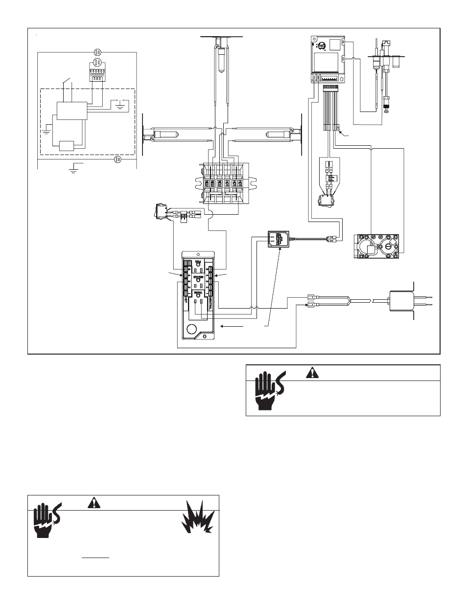 Warning Step 8 Wiring The Fireplace For Intermittent Pilot Socket Junction Box Ignition Heat Glo Lcor Hv Ipi User Manual Page 37 46