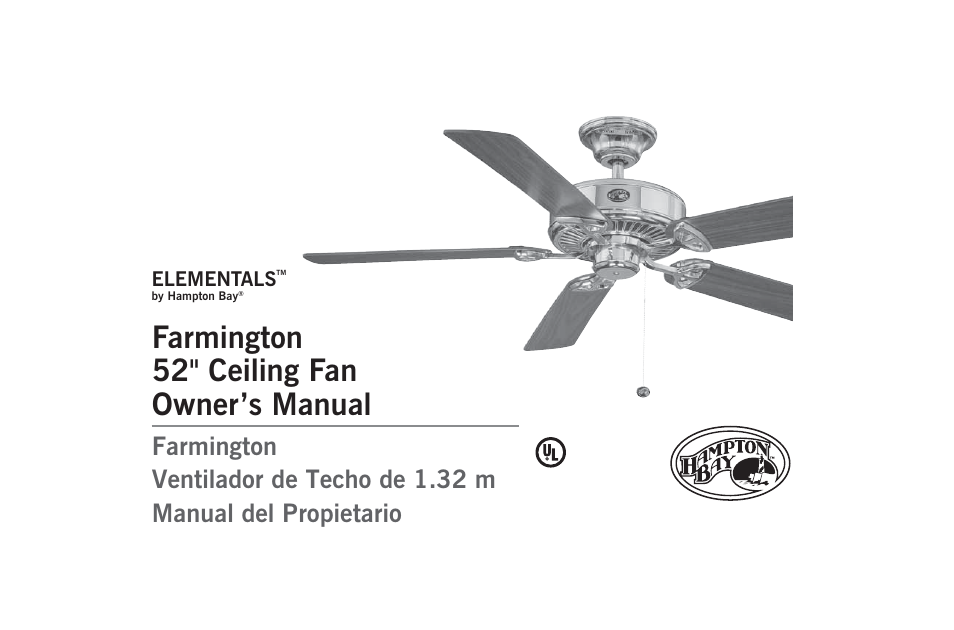 Hampton Direct 52 Ceiling Fan 171 348 User Manual 16 Pages Also For 889 170 721 172 503