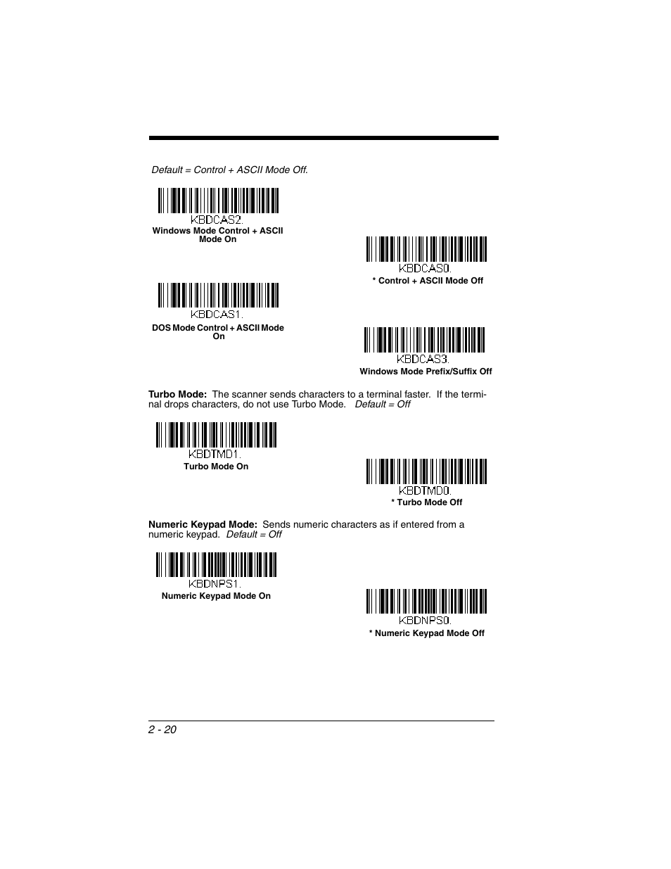 Honeywell XENON 1902 User Manual | Page 54 / 312 | Also for