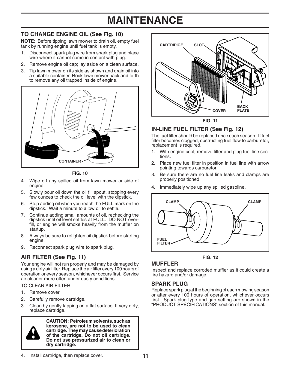 maintenance husqvarna 6021p user manual page 11 16 rh manualsdir com Husqvarna 6021P Push Lawn Mower Husqvarna 6021P Owner's Manual