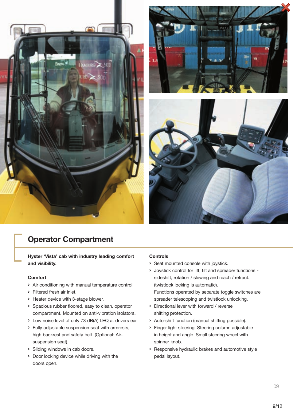 Operator compartment | Hyster H40.00-50.00XM-16CH User Manual | Page
