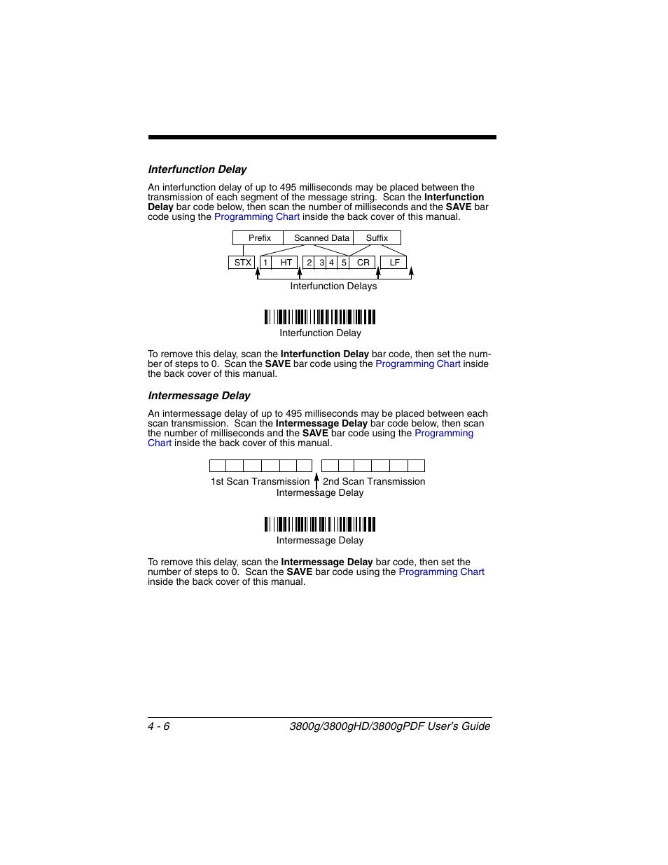 interfunction delay intermessage delay interfunction delay 6 rh manualsdir com Honeywell Adaptus 3800G honeywell 3800g programming guide