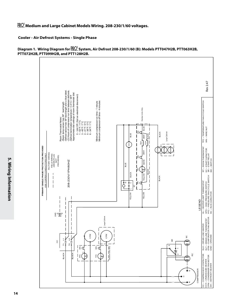 W Iring Inf Orma Tion Re V 2 47 Heatcraft Refrigeration Products Refrigerator Compressor Wiring Diagram 230v System H Im 82b User Manual Page 14 20