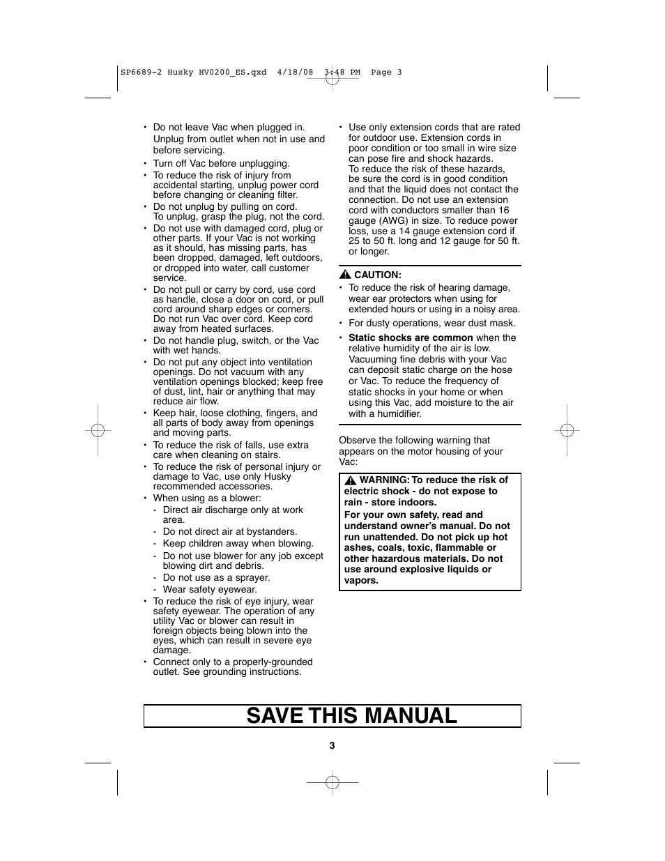 save this manual husky hv02000 user manual page 3 24 rh manualsdir com ezviz husky user manual husky owners manual