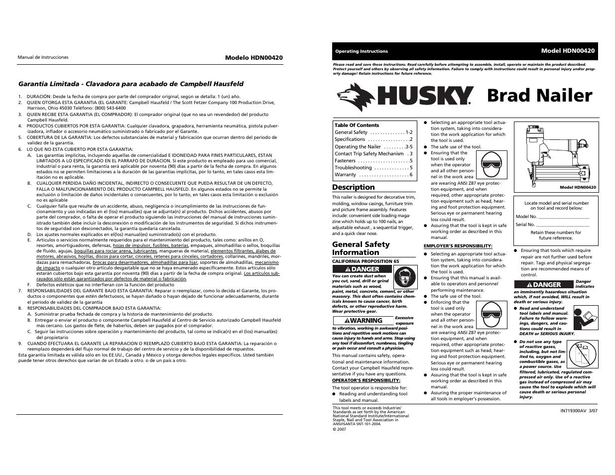 husky hdn00420 user manual 10 pages original mode rh manualsdir com huskee user manual model hu500n22sh clearpath husky user manual