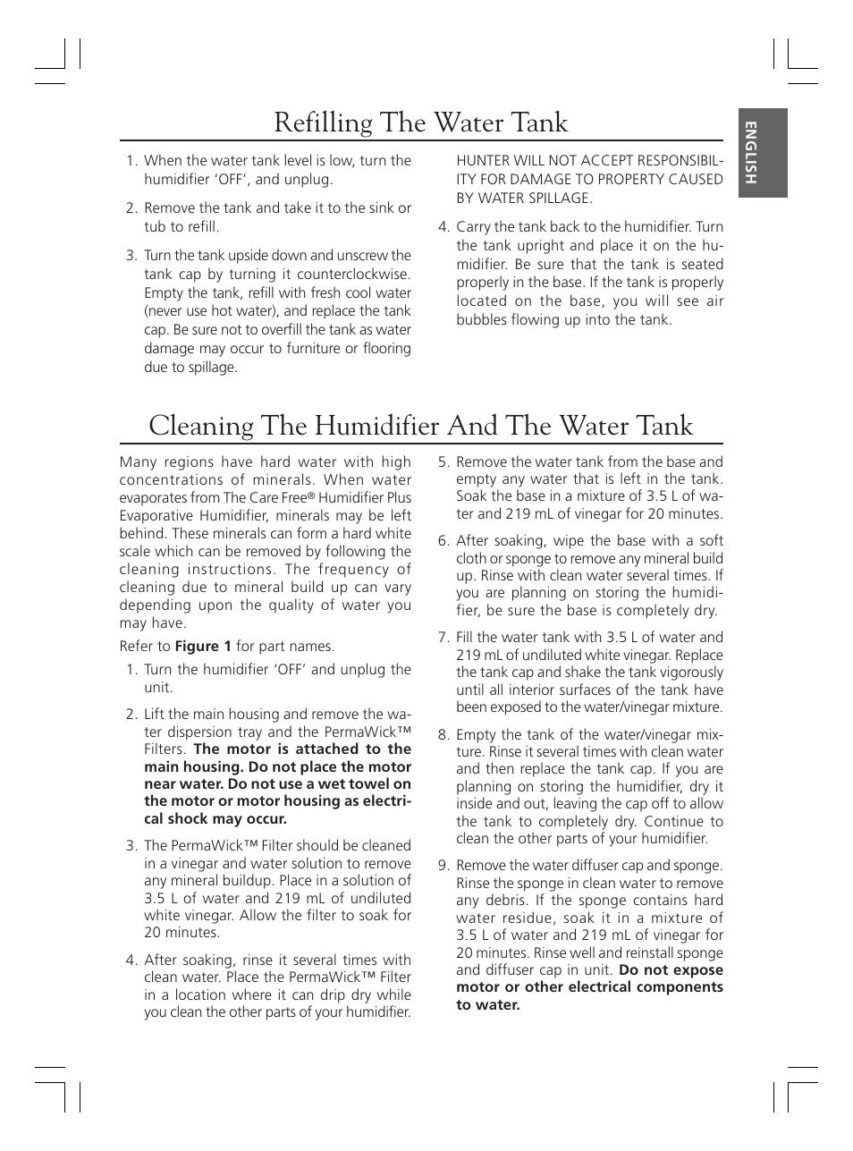Hunter Fan 36202 User Manual | Page 5 / 54 | Original mode