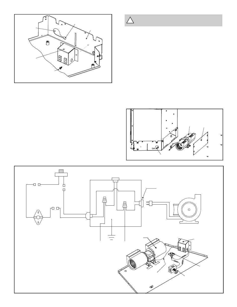 Figure 10. fan wiring diagram, Warning: must use the cord supplied with the  j-box, Figure 11 | Heat & Glo Fireplace HEAT-N-GLO FB-IN User Manual | Page  20 / ...