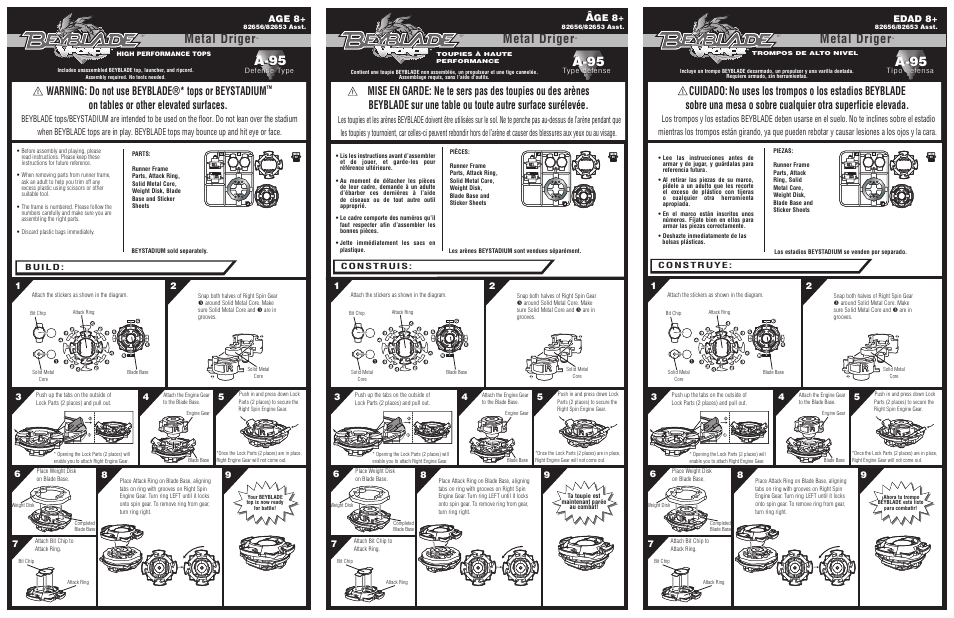 Hasbro Beyblade Metal Driger 82656 User Manual 2 pages