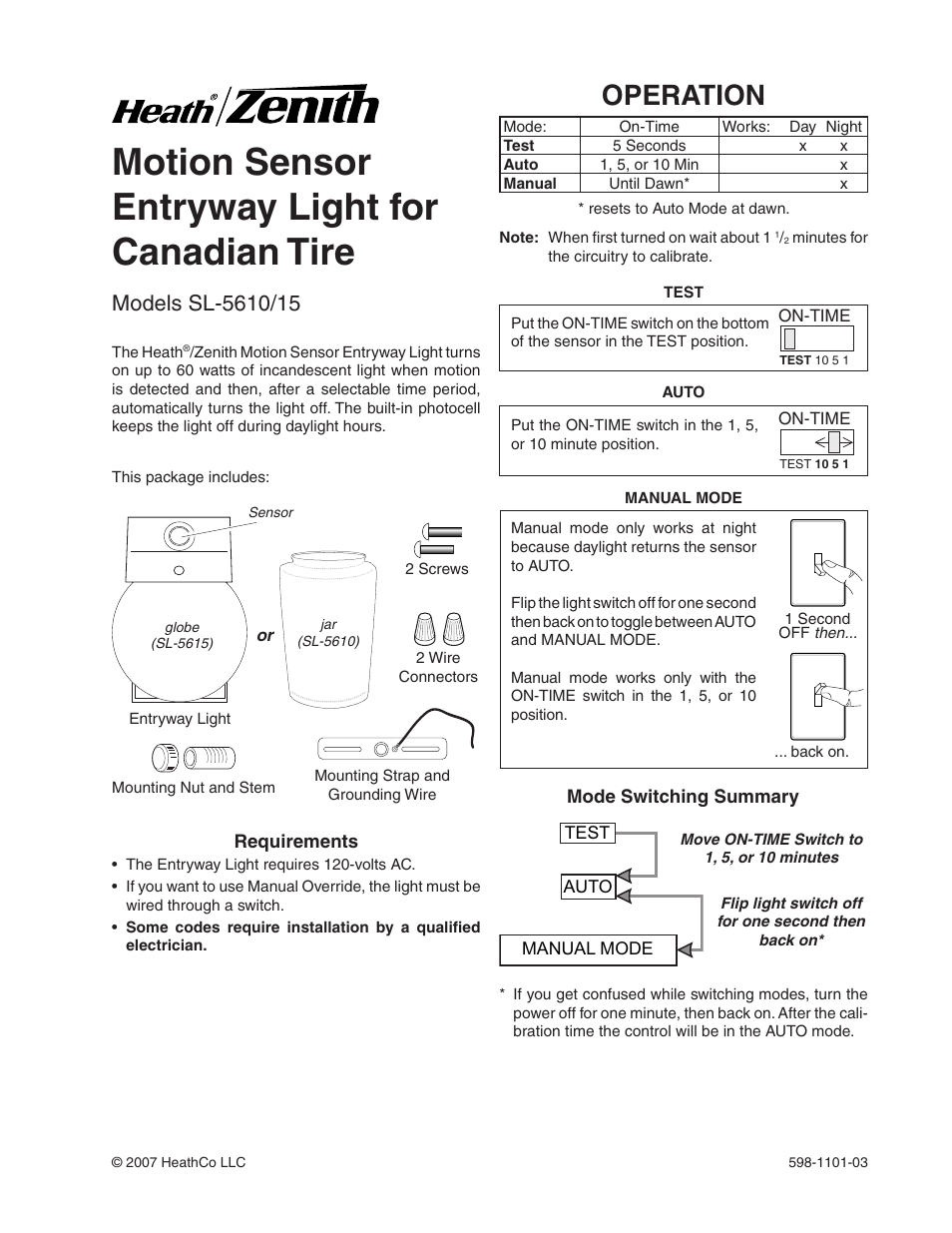 Heath Zenith Occupancy Motion Sensor Wall Switch Wiring Diagram In The Home