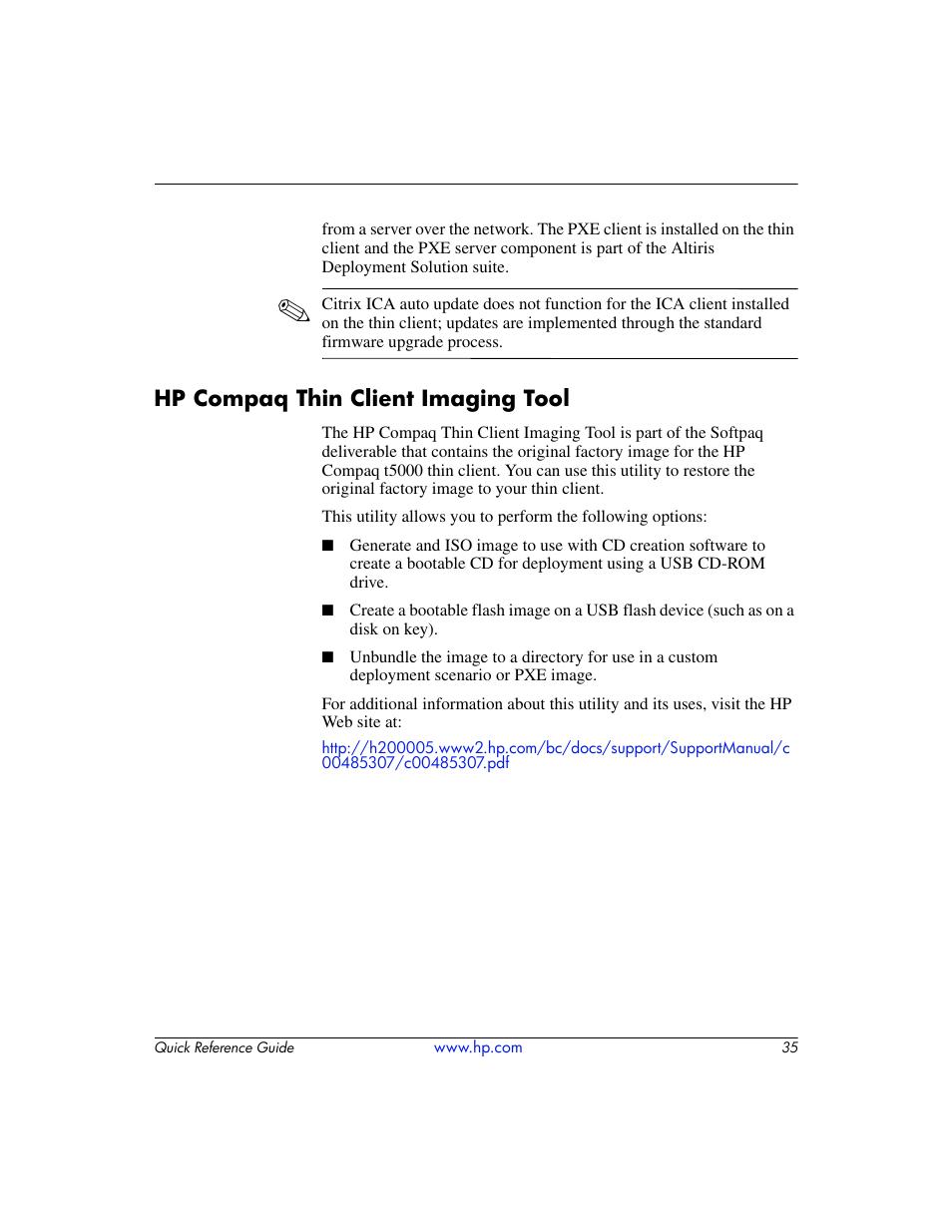 hp compaq thin client imaging tool hp t5000 user manual page 39 41 rh manualsdir com HP T5000 Image HP Compaq T5700 Thin Client
