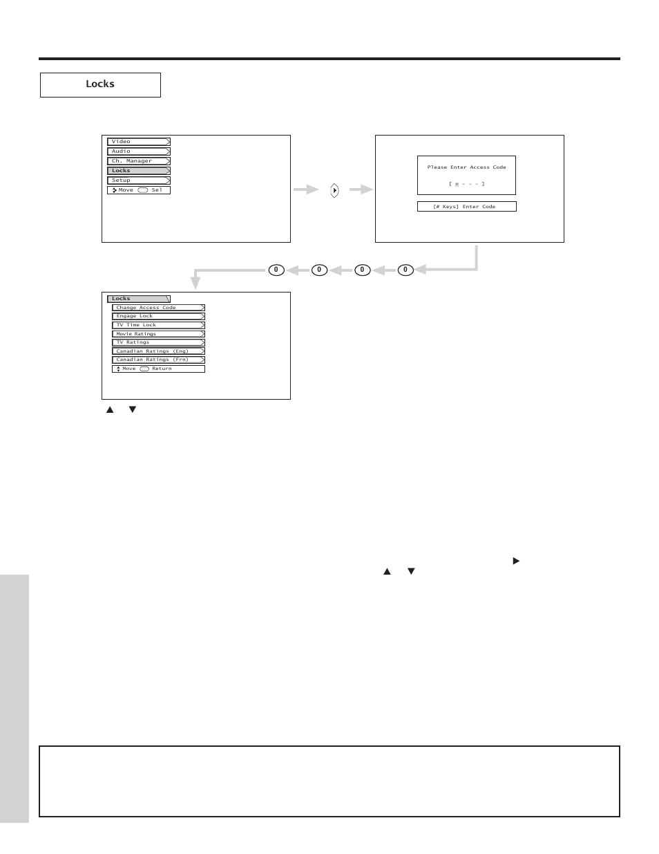 locks on screen displa y hitachi 51f500 user manual page 44 64 rh manualsdir com Hitachi StarBoard Manual Hitachi Manuals Television