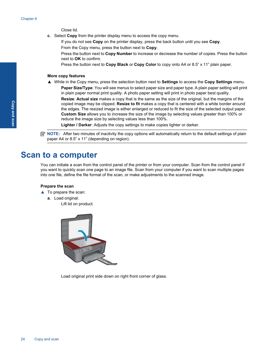 Scan to a computer | HP 3070 B611 User Manual | Page 26 / 60