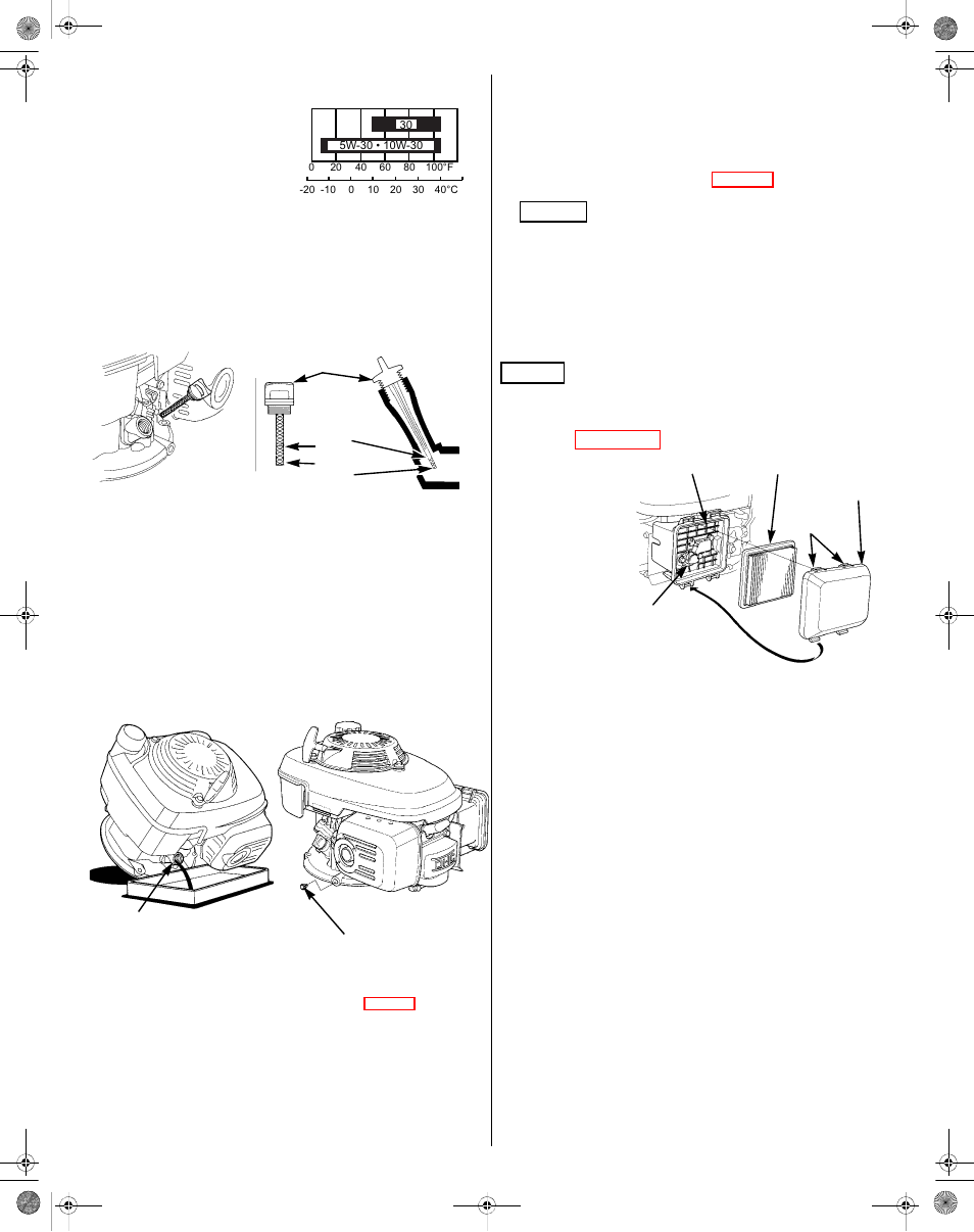 Engine oil, Air cleaner | HONDA GCV190 User Manual | Page 7 / 48