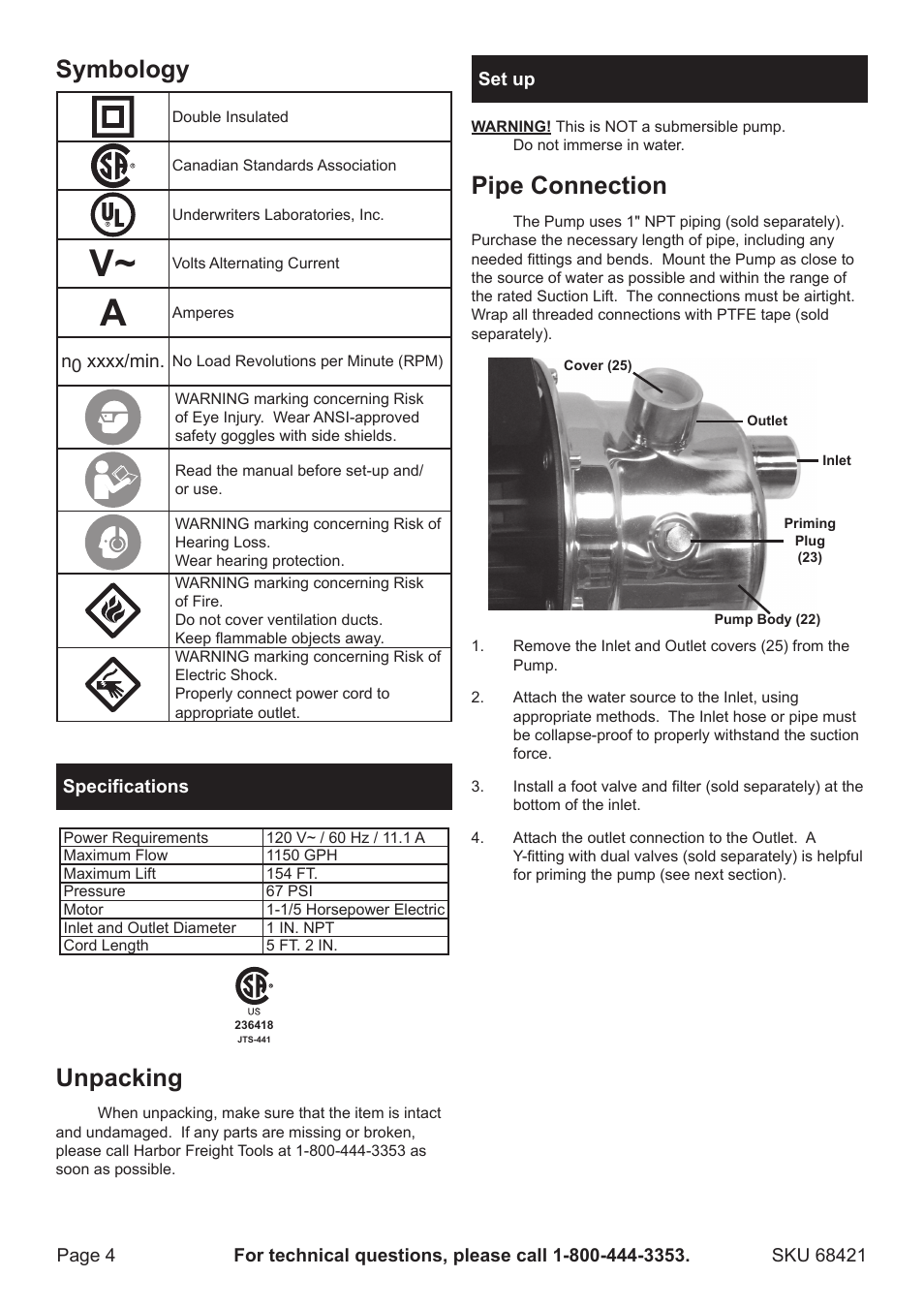 Pacific hydrostar pump manual