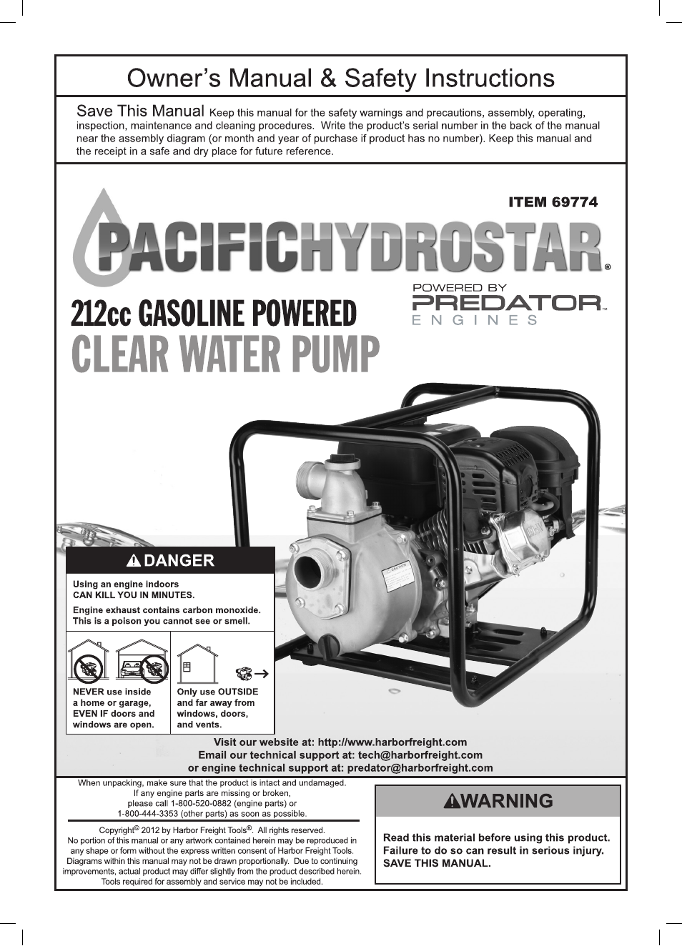 Pacific Hydrostar Water Pump Wiring Diagrams Starting Know About 500 Predator Diagram 212cc Engine