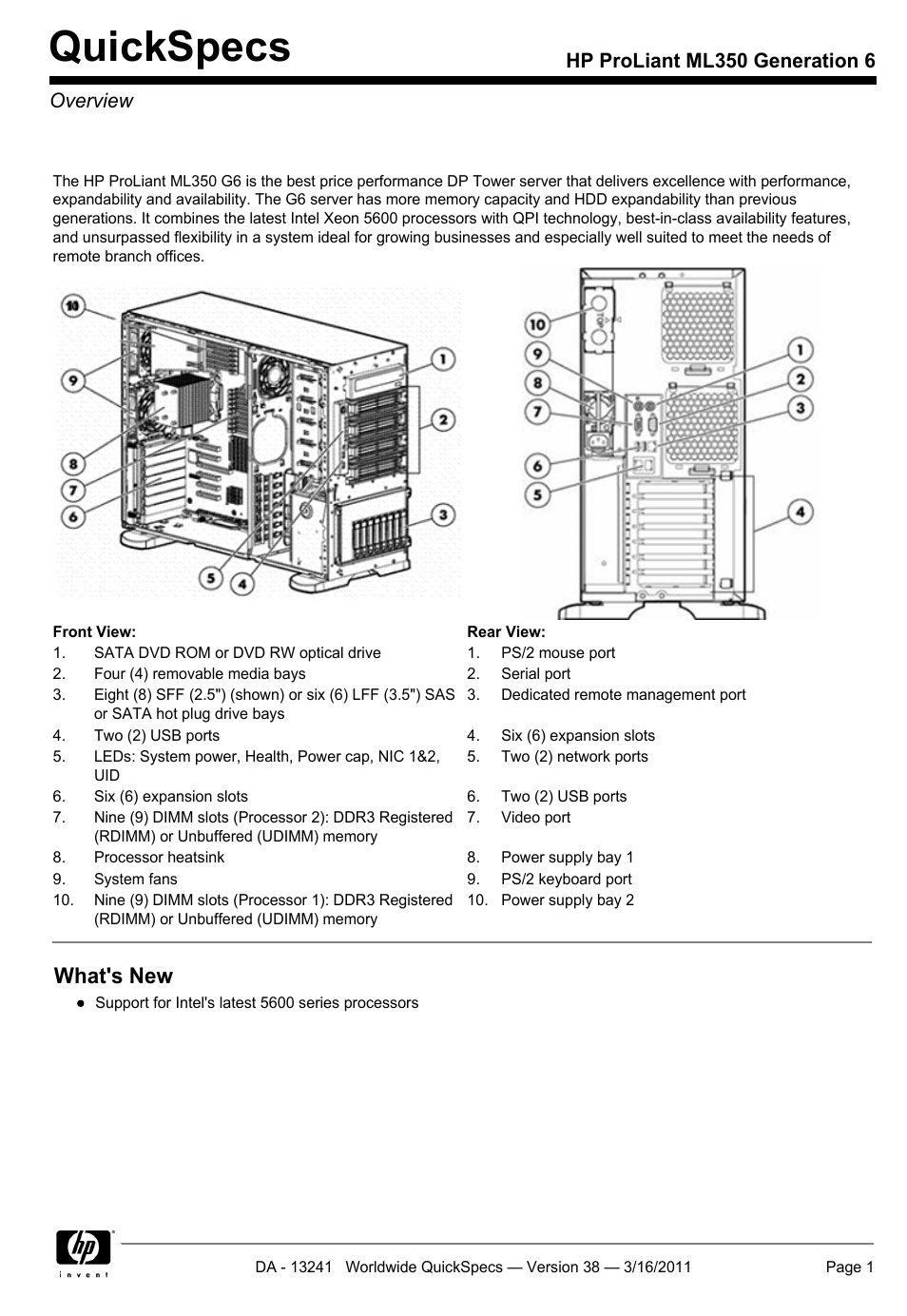 Hp Proliant Ml350 G6 User Manual 54 Pages Nikon D40 Usb Cable Schematic