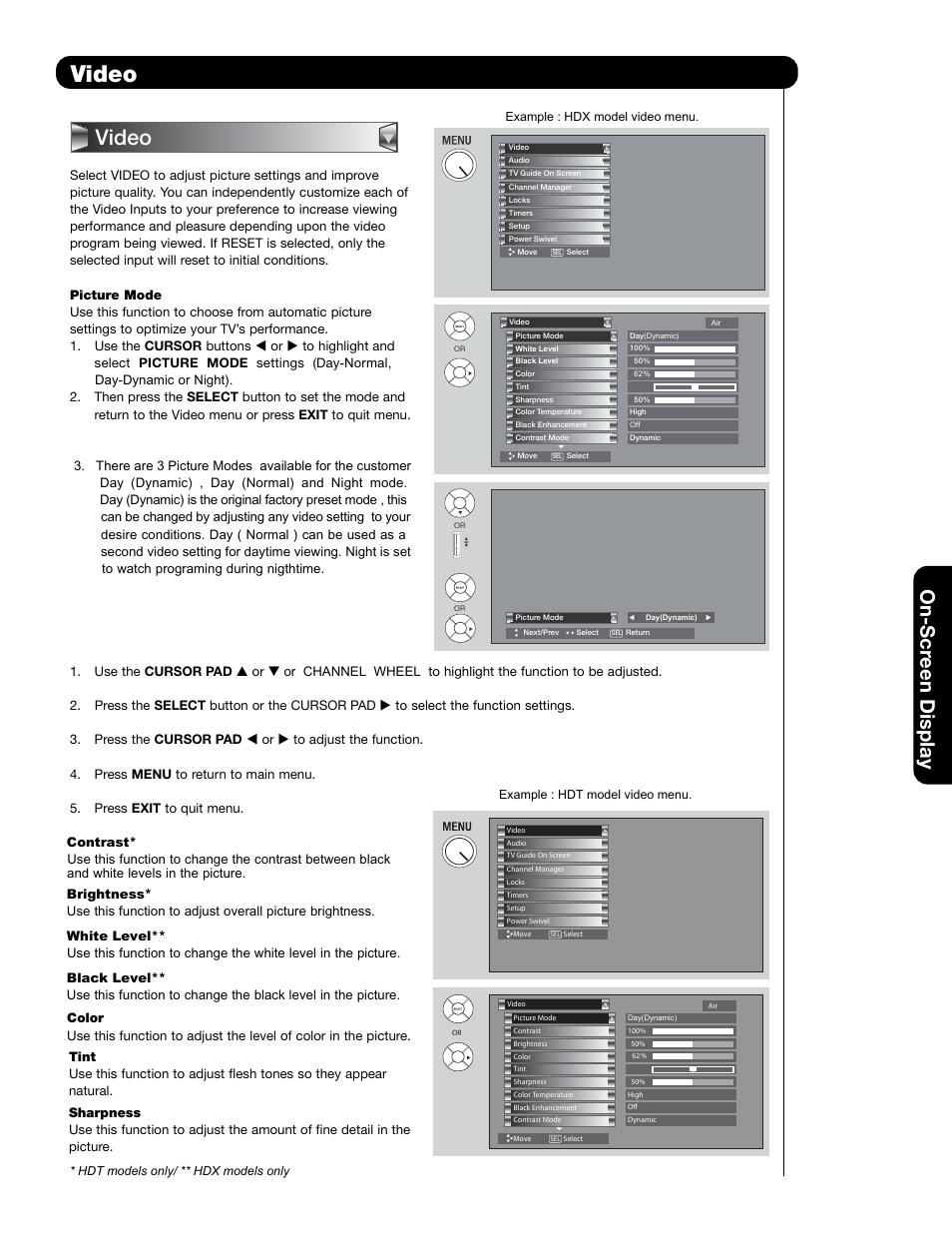 video on scr een display hitachi 55hdt79 user manual page 47 rh manualsdir com Hitachi 55HDX62 Model Hitachi 50VS69A TV Model