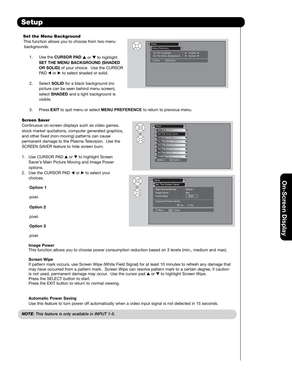 setup on scr een display hitachi 55hdt79 user manual page 67 rh manualsdir com Hitachi 42HDS69 Remote Hitachi Plasma Repair Manual