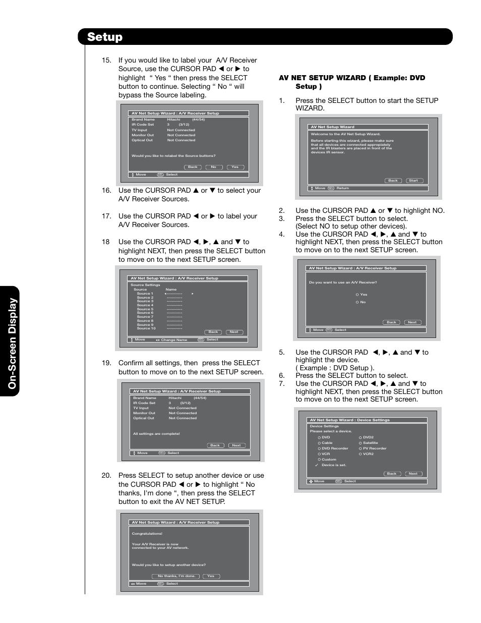 setup on scr een display hitachi 55hdt79 user manual page 70 rh manualsdir com Honeywell Pressuretrol Manual Honeywell Pressuretrol Manual