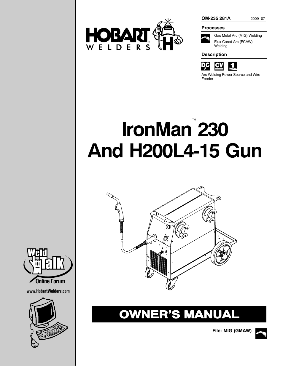 Hobart Welding Products IRONMAN 230 User Manual | 56 pages