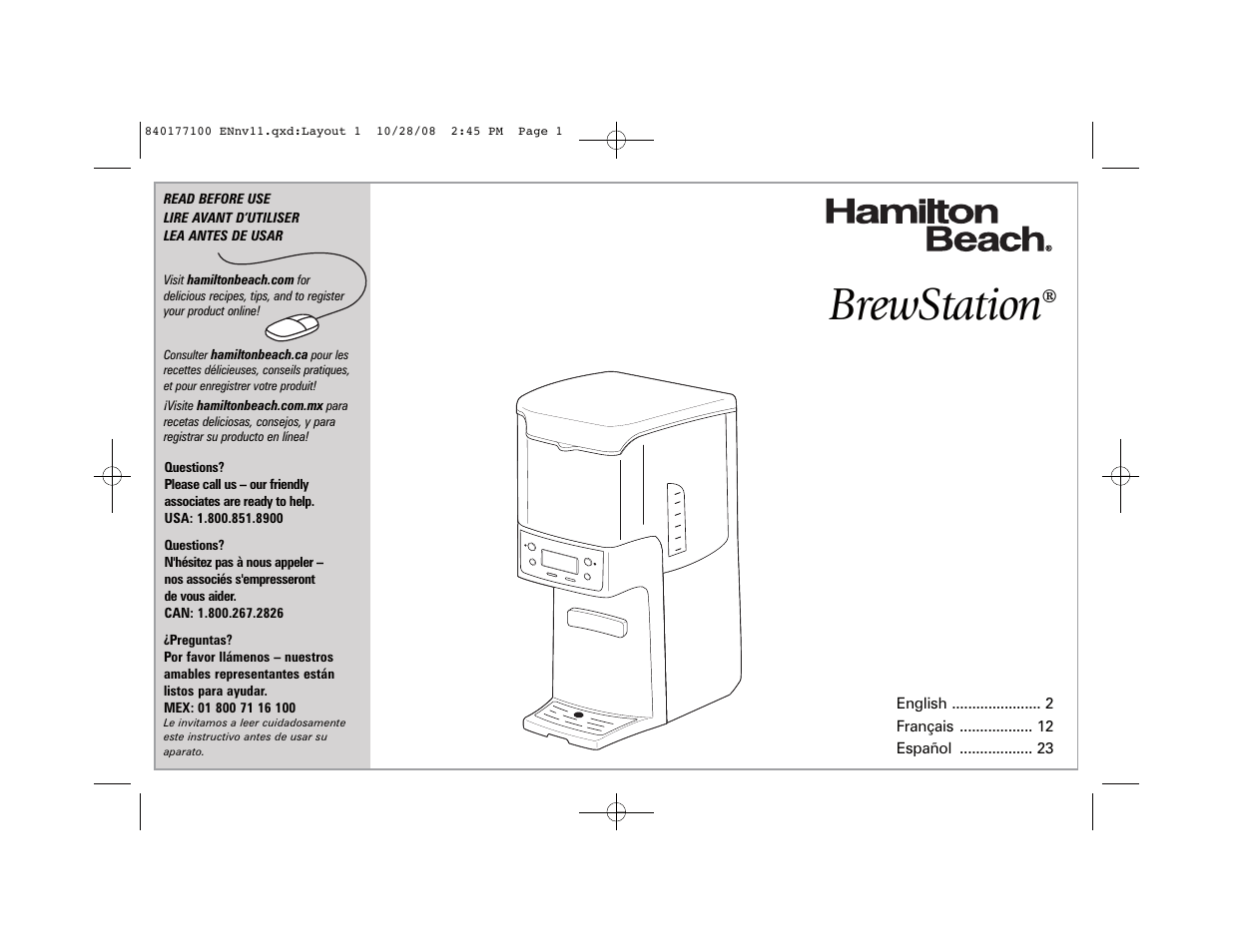 hamilton beach brewstation 48464 manual