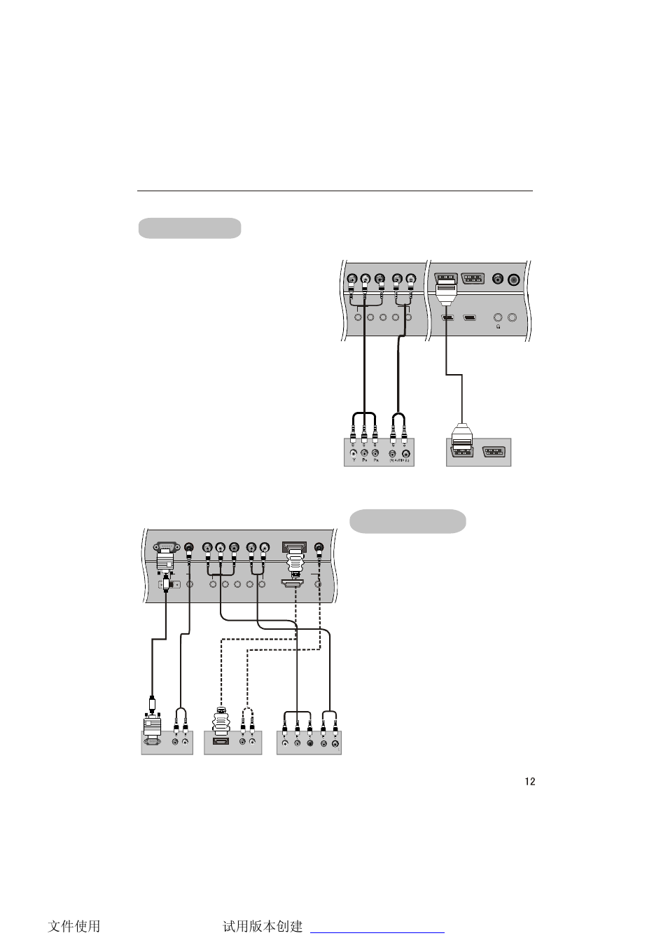 External equipment connections, Dtv connection dvd connection | haier LCD TV  L32A9A User Manual | Page 13 / 47