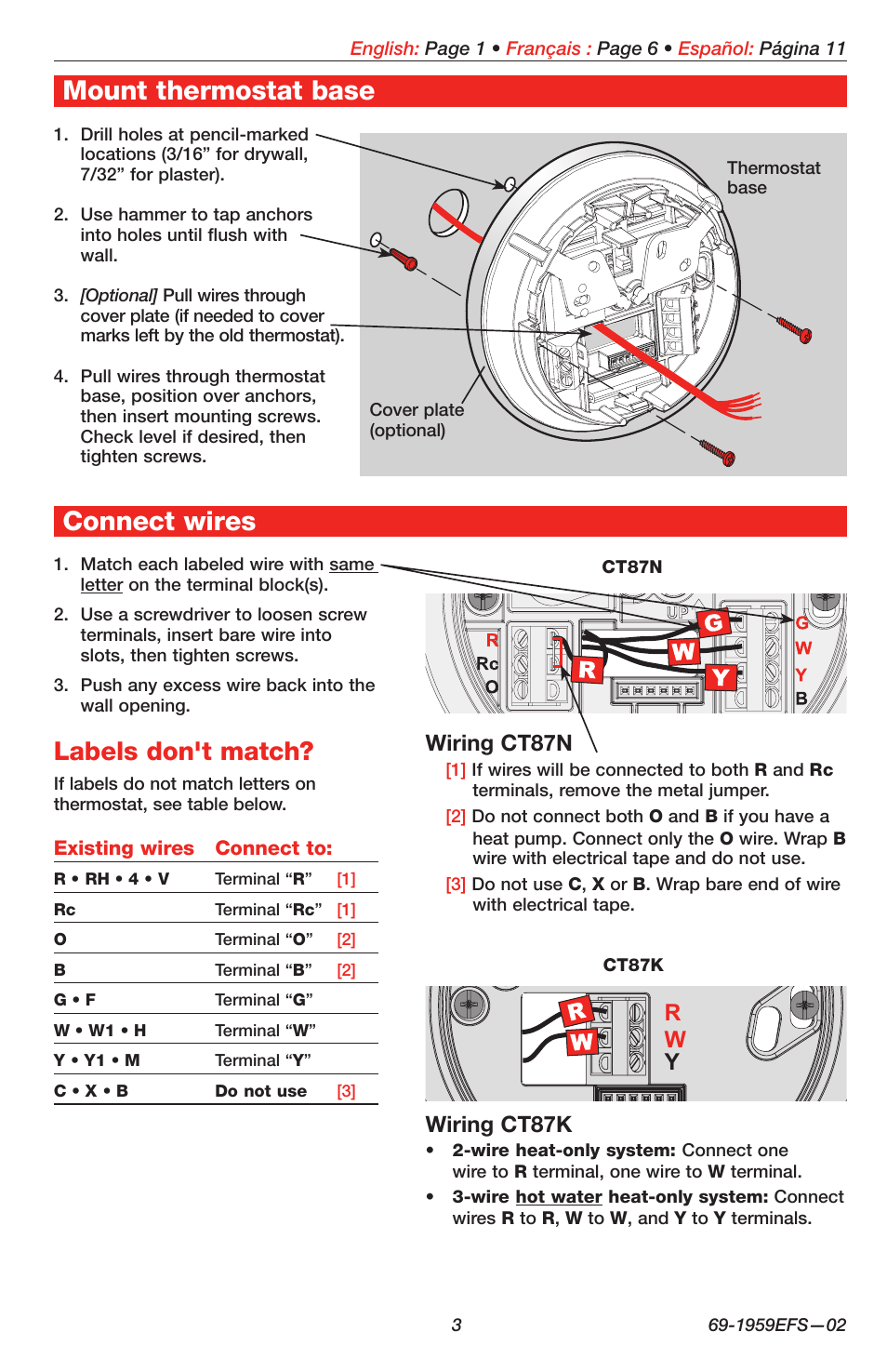 honeywell t87k thermostat wiring diagram honeywell