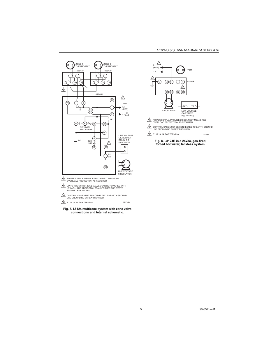 Honeywell Aquastat L8124c Manual L8124a Wiring Diagram L8124e User Page 5 8 Also For L8124m