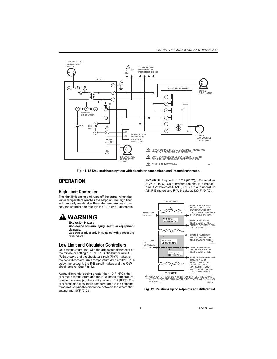 honeywell 8124 aquastat wiring diagram