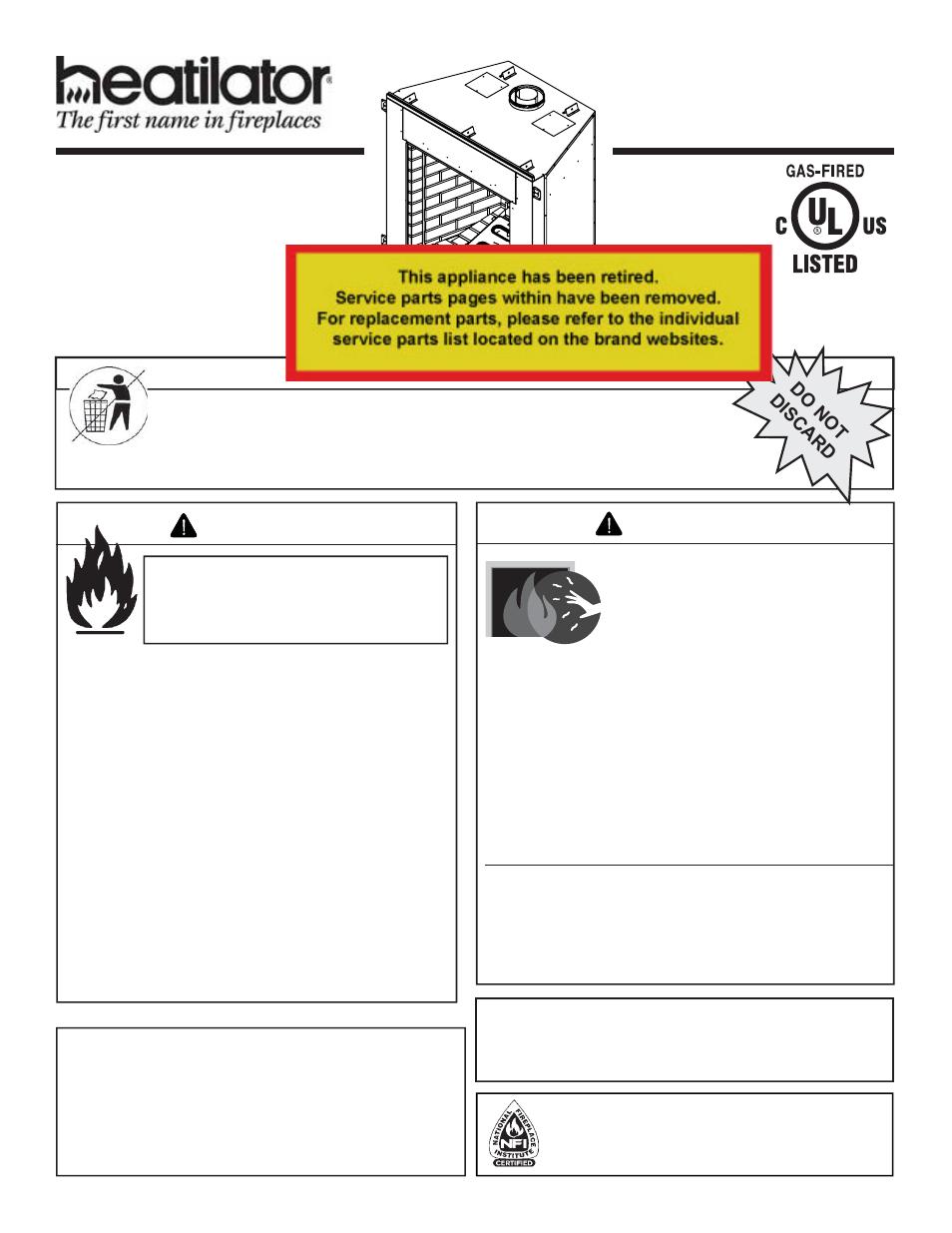 Heatiator Heatilator Fireplace Idv4833it User Manual