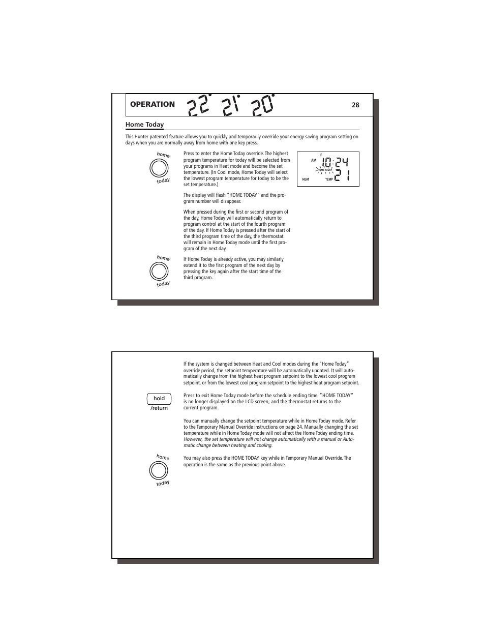 Operation | Hunter Fan 47350A User Manual | Page 15 / 23 | Original mode