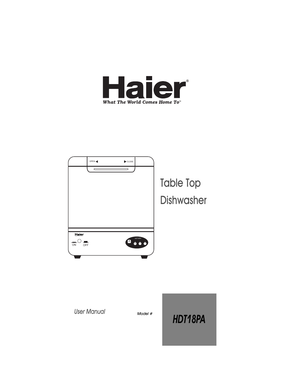 Haier Hdt18pa User Manual