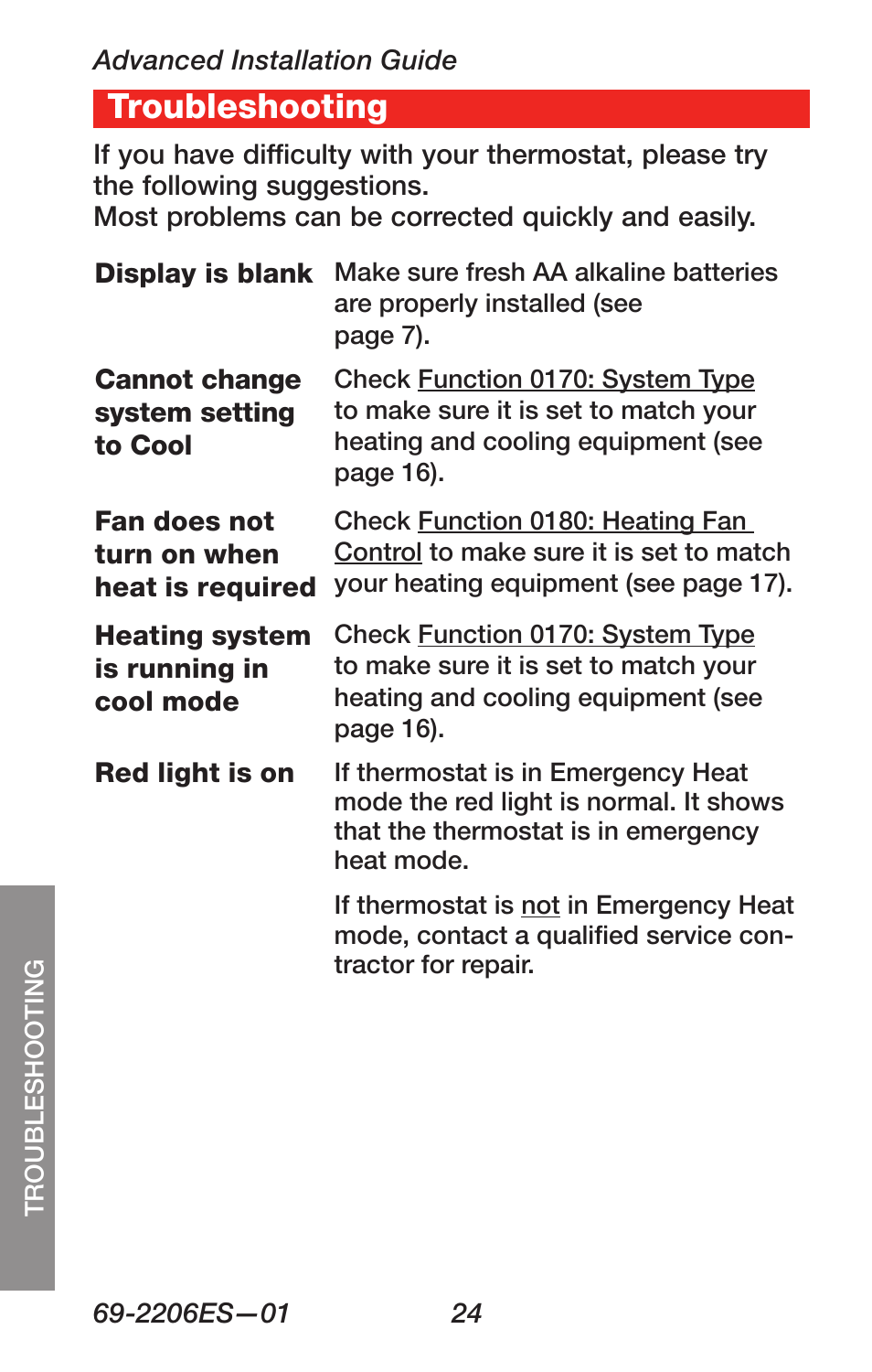 Rth7600d Emergency Heat Wiring Diagram Schematics Honeywell Rth230b Troubleshooting Rth7600 User Manual Page 26 60
