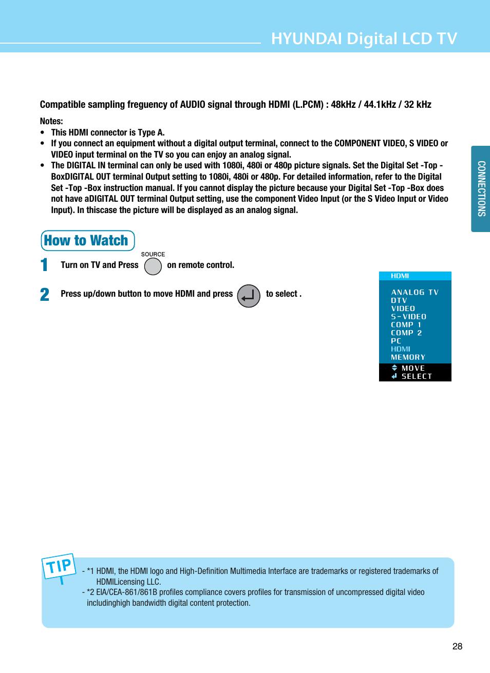 Hyundai digital lcd tv, How to watch | Hyundai ImageQuest