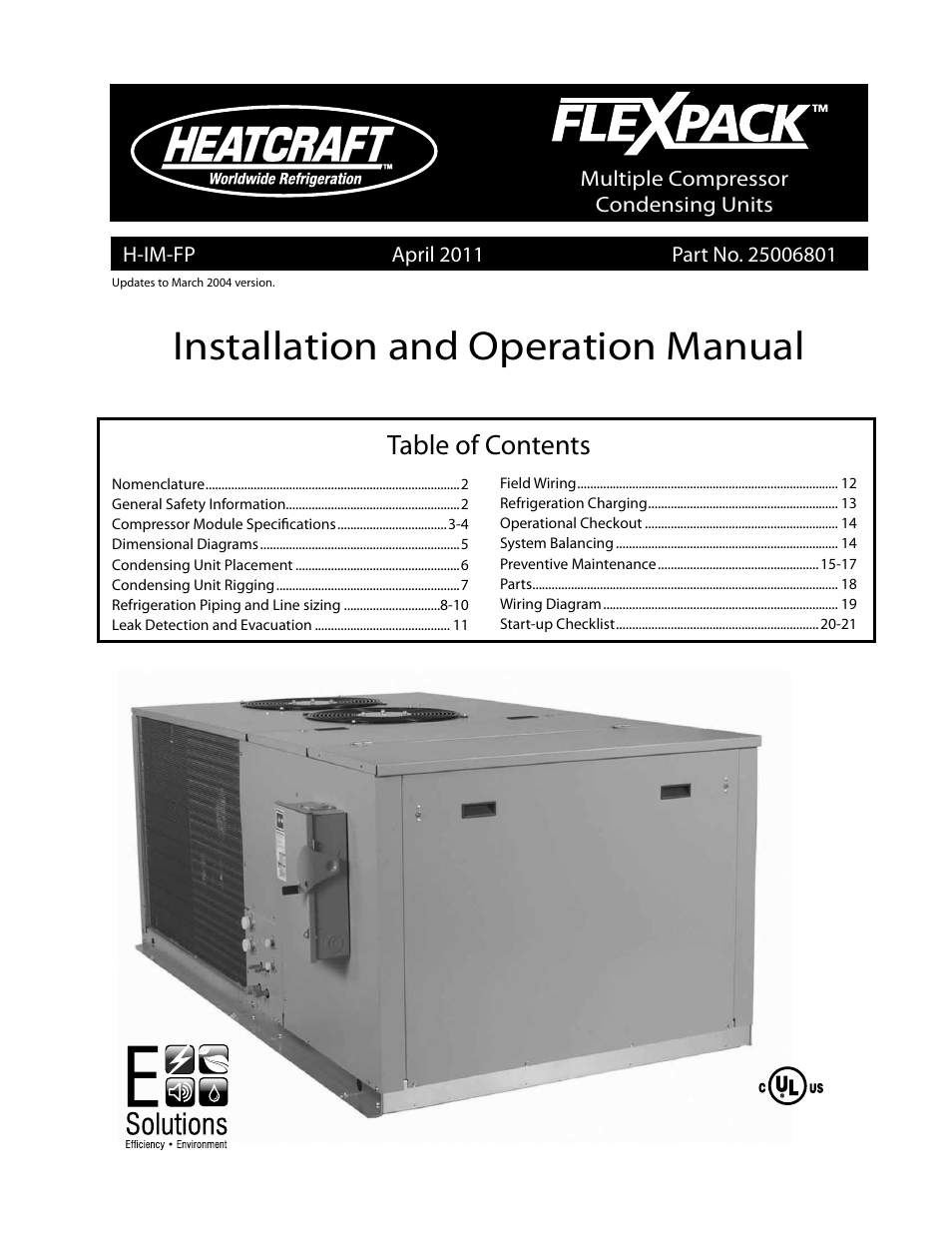 heatcraft refrigeration products flexpack user manual heatcraft refrigeration products flexpack 25006801 user manual 24 pages