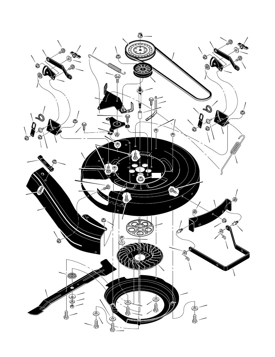 Repair Parts Code131b  Mower Housing