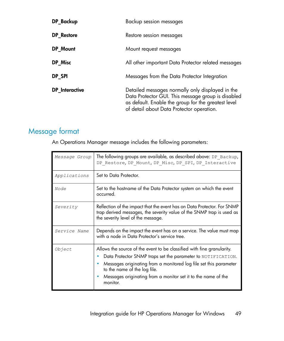 message format hp a 06 10 user manual page 49 100 original mode rh manualsdir com hp vt 49 manual hp 49 manual