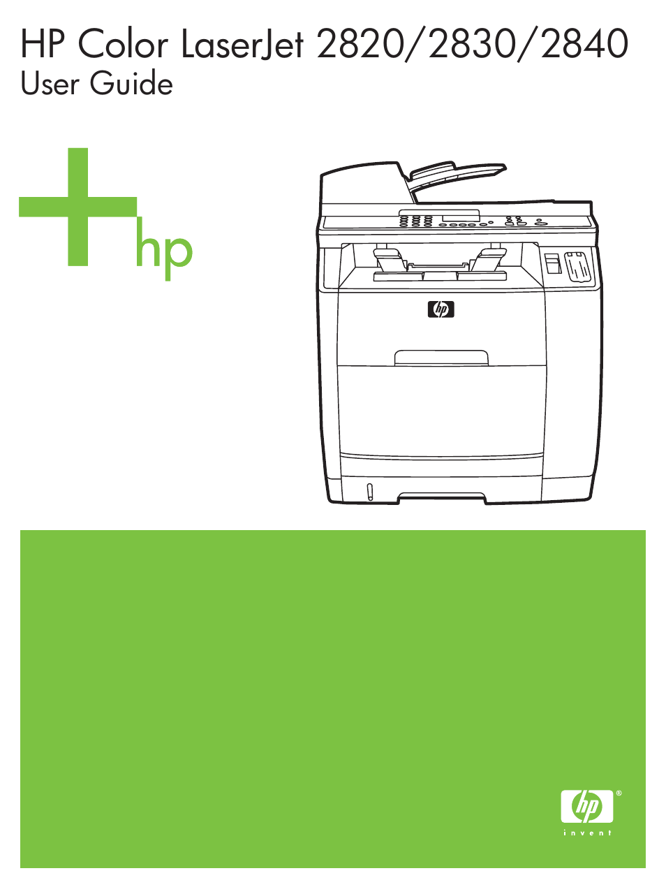 HP 2820 User Manual | 334 pages | Also for: 2840, Color LaserJet 2800  All-in-One Printer series
