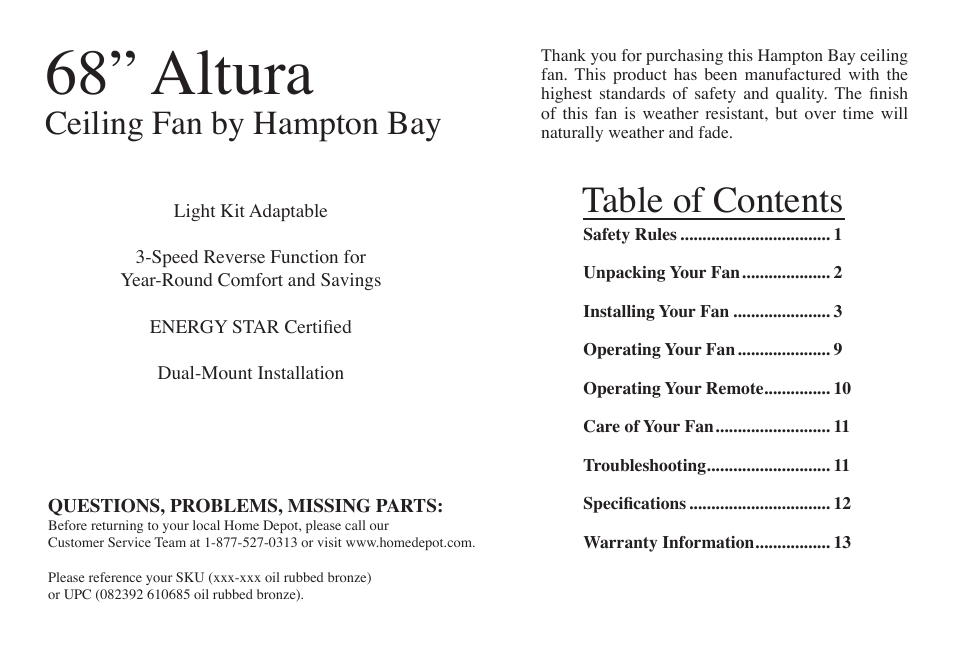 Hampton Direct Altura 68 Atr User Manual Page 2 15